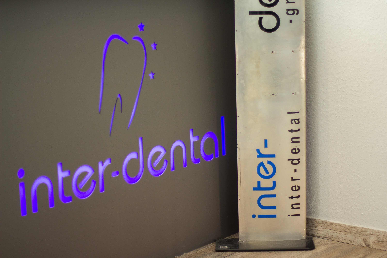 inter-dental Werbung im Fräszentrum Trassem.